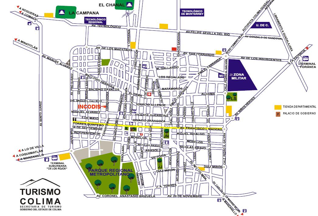 Mapa de Ubicación de las Oficinas del Incodis